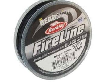 6lb Fireline Black Satin Thread .006in/0.15mm 50yd/45m