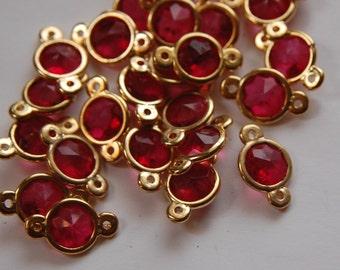 Vintage German Plastic Rose Connector Beads bds957C