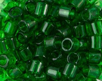 Transparent Green Miyuki Delica Seed Bead 8/0 6.8G Tube DBL-0705-TB