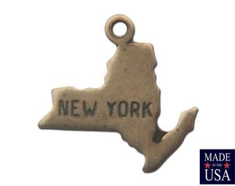 Brass Ox Tiny New York State Charm Drops (2) chr204C