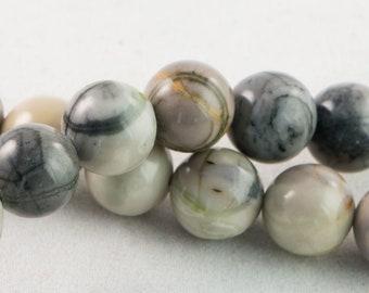 "Dakota Stones Picasso Jasper 10mm Round Gemstones. 8"" Strand. PIC10RD-8"