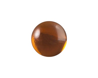 Transparent Smokey Topaz Foiled Glass Round Cabochons 9mm (10) cab2004W