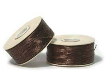 "Brown Nymo ""D"" Beading Thread 64yd Bobbin NYMDBR"