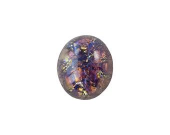 Amethyst Foil Opal Glass Cabochons 12x10mm (2) cab5003E
