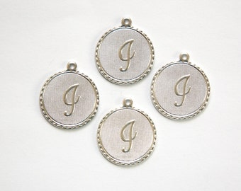 """Matte Silver Plated Letter """"i"""" Initial Charm Drop with Loop (4) chr196i"""