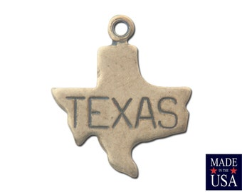 Brass Ox Tiny Texas State Charm Drops (6) chr203A