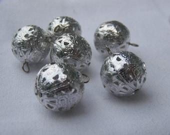 Vintage Aluminum Filigree Beads Charms Drops Dangles drp011B