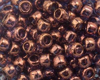 "Gold Lustered Amethyst Toho Seed Bead (8g) 8/0 2.5"" Tube TR-08-201/C"