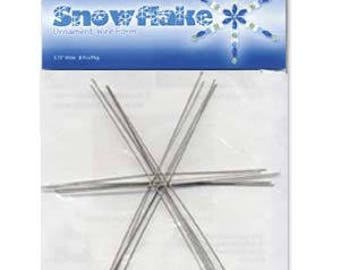 """Beadsmith Wire Snowflake Ornament Form 6.00"""""""