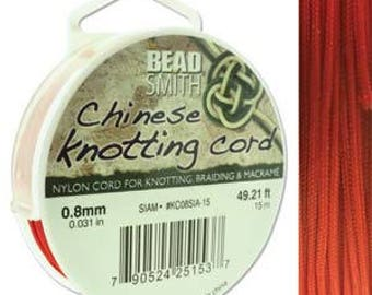 Siam Chinese Knotting Cord (.8mm/.031in) 15m/16.4yds