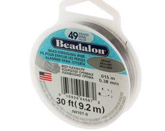 Beadalon 49 Strand Bright Wire .38mm Diameter/30ft Spool