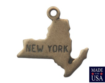 Brass Ox Tiny New York State Charm Drops (6) chr203C