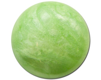 Vintage Acrylic Green Crackle Like Cabochon 24mm (2) cab783B