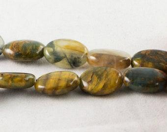 """Dakota Stones Pietersite 14x10mm Oval Gemstones. 8"""" Strand. PTS10x14OV-8"""