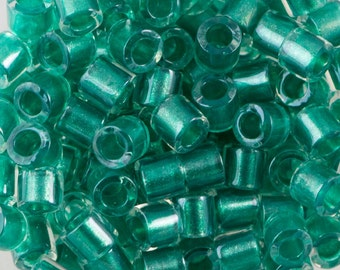 Sparkle Turquoise Lined Crystal Miyuki Delica Seed Bead 8/0 6.8G Tube DBL-0904-TB