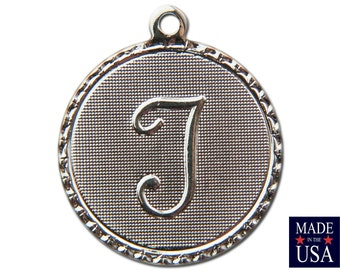 Silver Plated Letter T Initial Charm Drop with Loop (4) chr220T