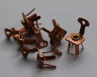 Vintage Copper Chair Charms Legs Move (6) chr103
