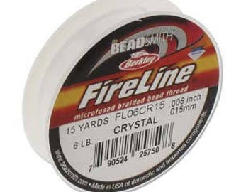 6lb Fireline Crystal Thread .006in/0.15mm 15 YRD