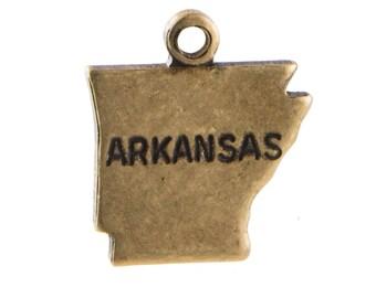 Brass Ox Tiny Arkansas State Charm Drops (6) chr203AD