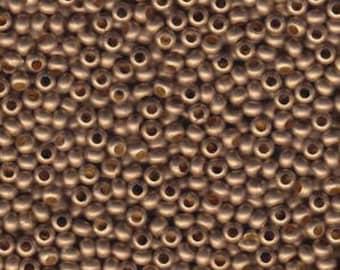 Matte Gilding Metal Seed Bead 6/0 30G Tube MT6-GLMMT-TB