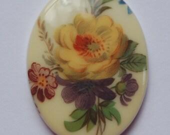 Vintage Antiqued Flower Bouquet Cabochon cab378