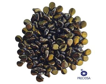 Preciosa Opaque Bronze Glass Czech Pip Beads 5x7mm (50) czh026T