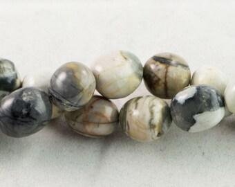 "30% OFF Dakota Stones Picasso Jasper 12x16 Tumbled Nuggets Beads Gemstones. 8"" Strand. PIC12x16NUG-8"