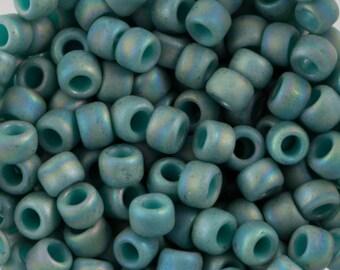 Semi Glazed Rainbow Turquoise Toho Seed Bead 8/0 TR-08-2634F