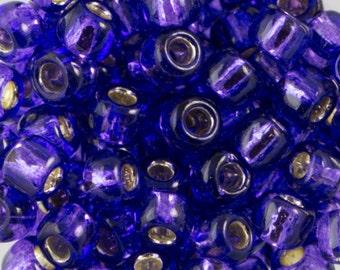 Silver Lined Purple Toho Seed Bead (8g) 6/0 TR-06-2224