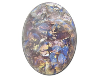 Amethyst Opal Oval Glass Cabochons 18x13mm (2) cab5005E