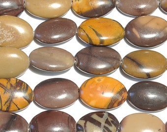 "Dakota Stones Purple Artistic Stone 10x14 Oval Beads Gemstones. 8"" Strand. PAR10x14OV-8"