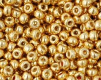 "PermaFinish Galvanized Starlight Toho Seed Bead 11/0 2.5"" Tube TR-11-PF557/C"