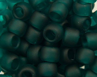 "Transparent Frosted Teal Toho Seed Bead 6/0 2.5"" Tube TR-06-7BDF/C"