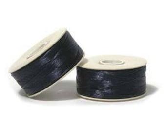 "Blue Stone Navy Nymo ""D"" Beading Thread 64yd Bobbin NYMDBL"