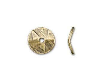 TierraCast Brass Ox Wavy Disc Spacer Beads 10mm Textured Pattern TC93-0448-27