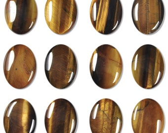 Dakota Stones Tiger Eye 25X18mm Oval Cabochon Gemstones. CAB-TGE25x18OV