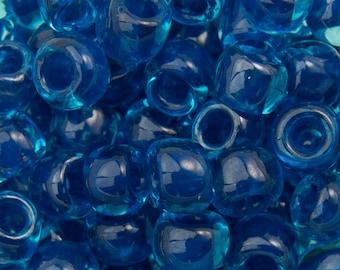 "Inside Color Aqua / Capri Lined Toho Seed Bead 6/0 2.5"" Tube TR-06-932/C"