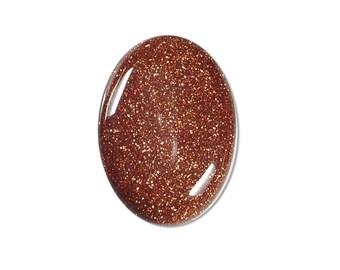 Dakota Stones Goldstone 25x18mm Oval Cabochon Gemstones. (1) CAB-GLD25x18OV