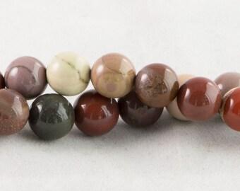 "Dakota Stones Imperial Jasper 10mm Round Gemstones 8"" Strand IMP10RD-8"