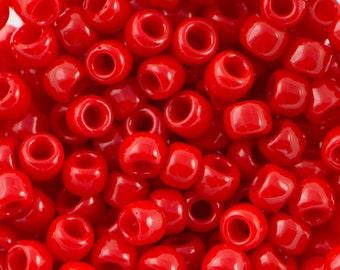 "Opaque Cherry Toho Seed Bead (8g) 8/0 2.5"" Tube TR-08-45A/C"