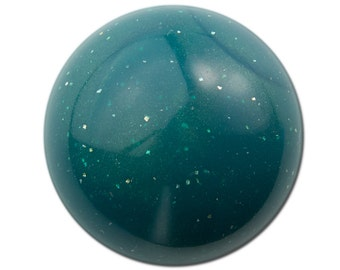 Vintage Teal Green Marbled Acrylic Domed Cabochons 30mm (2) cab814A