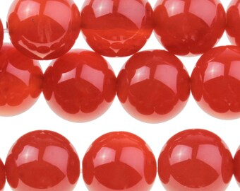 "Dakota Stones Carnelian 10mm Round Gemstones. 8"" Strand. CRN10RD-8"