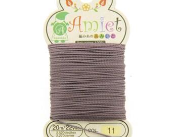 Mauve Toho Amiet Polyester Thread 22yrds/20m