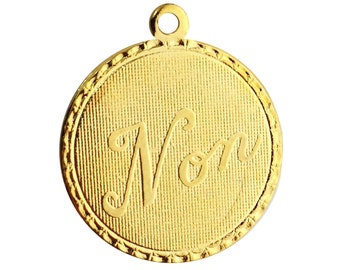 Gold Plated Non Word Charm Drop with Loop (1) chr215FF