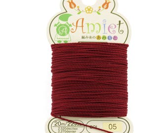 Carmine Toho Amiet Polyester Thread 22yrds/20m