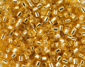 11/0 MIYUKI DELICA Silver Lined Gold Seed Bead (8g)