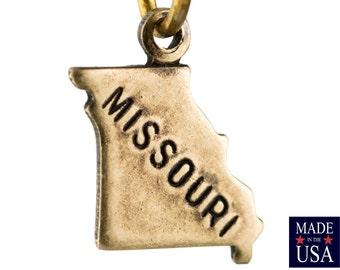 Brass OxTiny Missouri State Charm Drops (2) chr204JJ