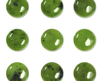 Dakota Stones Jade 10mm Round Coin Cabochon Gemstones. (1) CAB-JAD10DC
