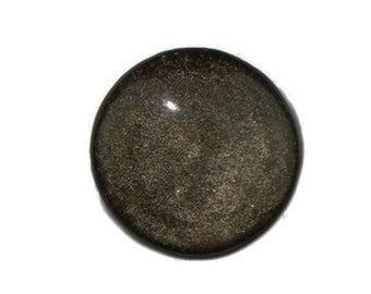 Dakota Stones Golden Obsidian 25mm Round Coin Cabochon Gemstone CAB-GOB25DC