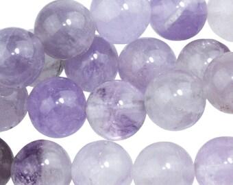 """Dakota Stones Lavender Amethyst 10mm Round Gemstones. 8"""" Strand. LAV10RD-8"""